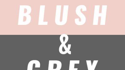 Kid's Bedroom Trend: Blush & Grey